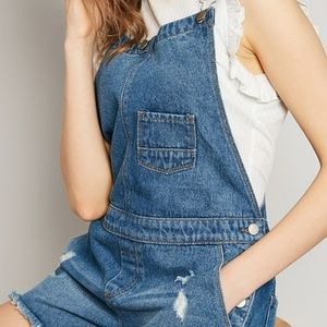 Hayden Denim Short Overalls